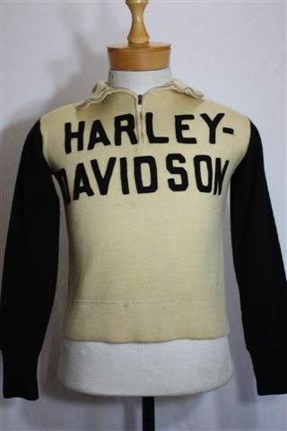 Vintage 1920s Harley Davidson Motorcycles Wool Racing Sweater 3000