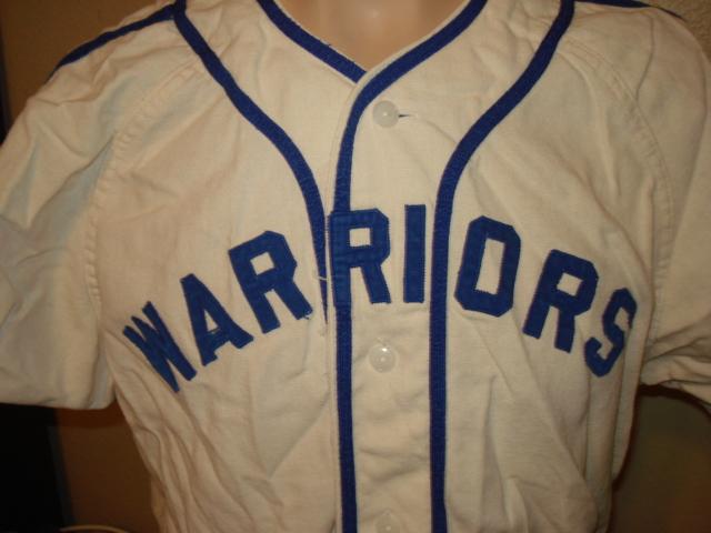 best website 86908 45d55 selling on ebay: 1950s WARRIORS flannel baseball jersey ...